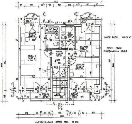 Вариант плана с нанесенными элементами систем коммуникаций