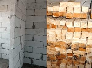 Визуальное сравнение двух материалов