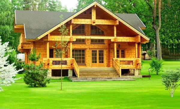 Внешний вид домов из деревянного бруса