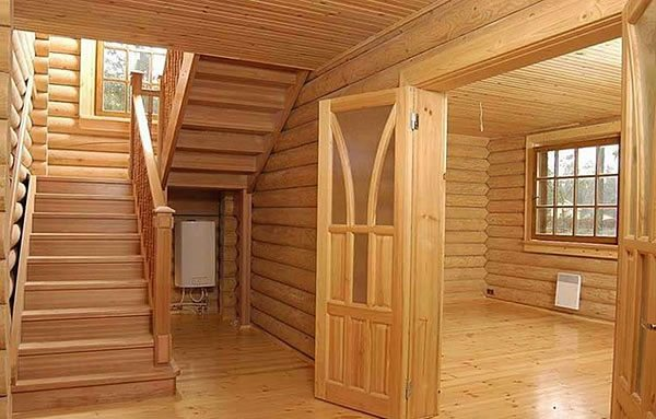 Внешний вид помещений домов из бруса