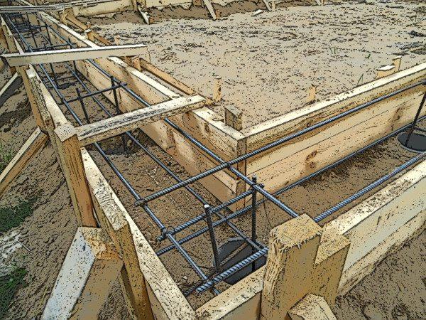 Заготовка под заливку бетона